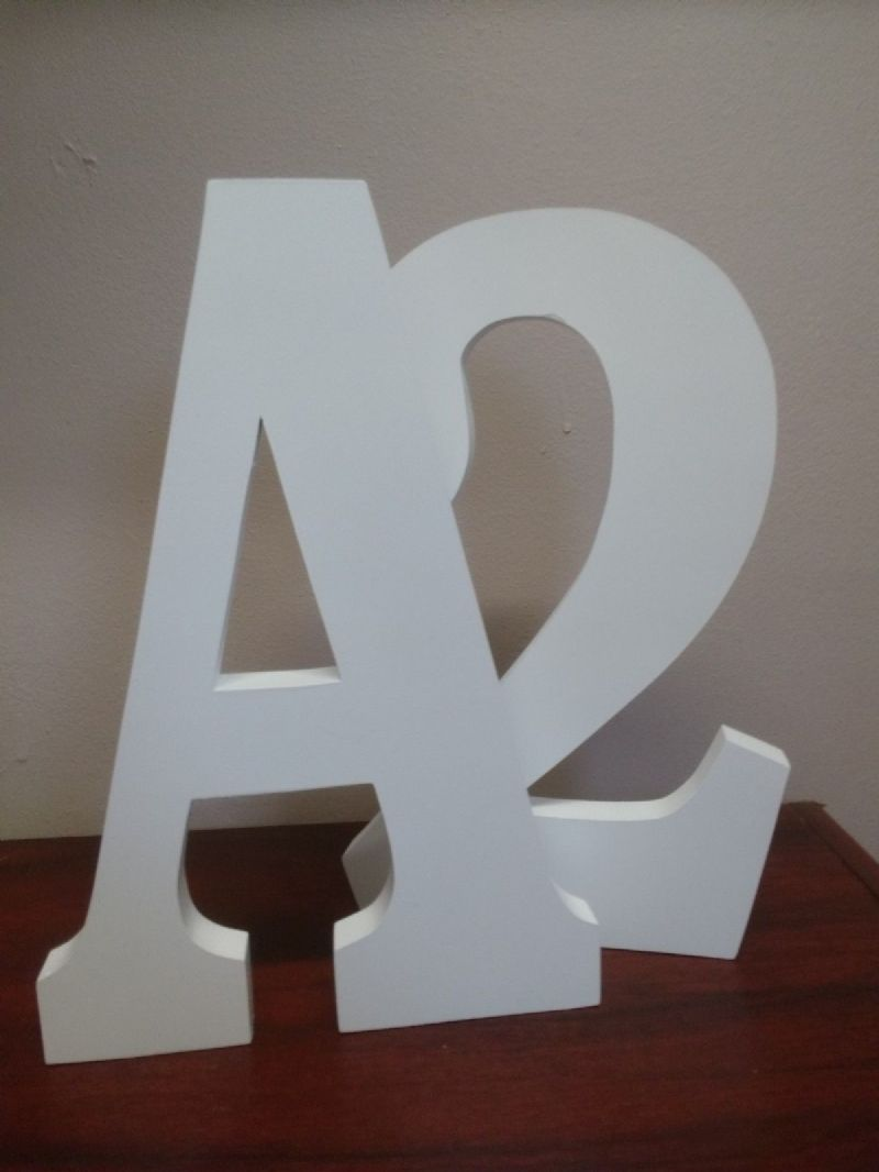 "FREE STANDING  LARGE WOODEN letters  30 cm, (12"") painted wooden letter, numbers"